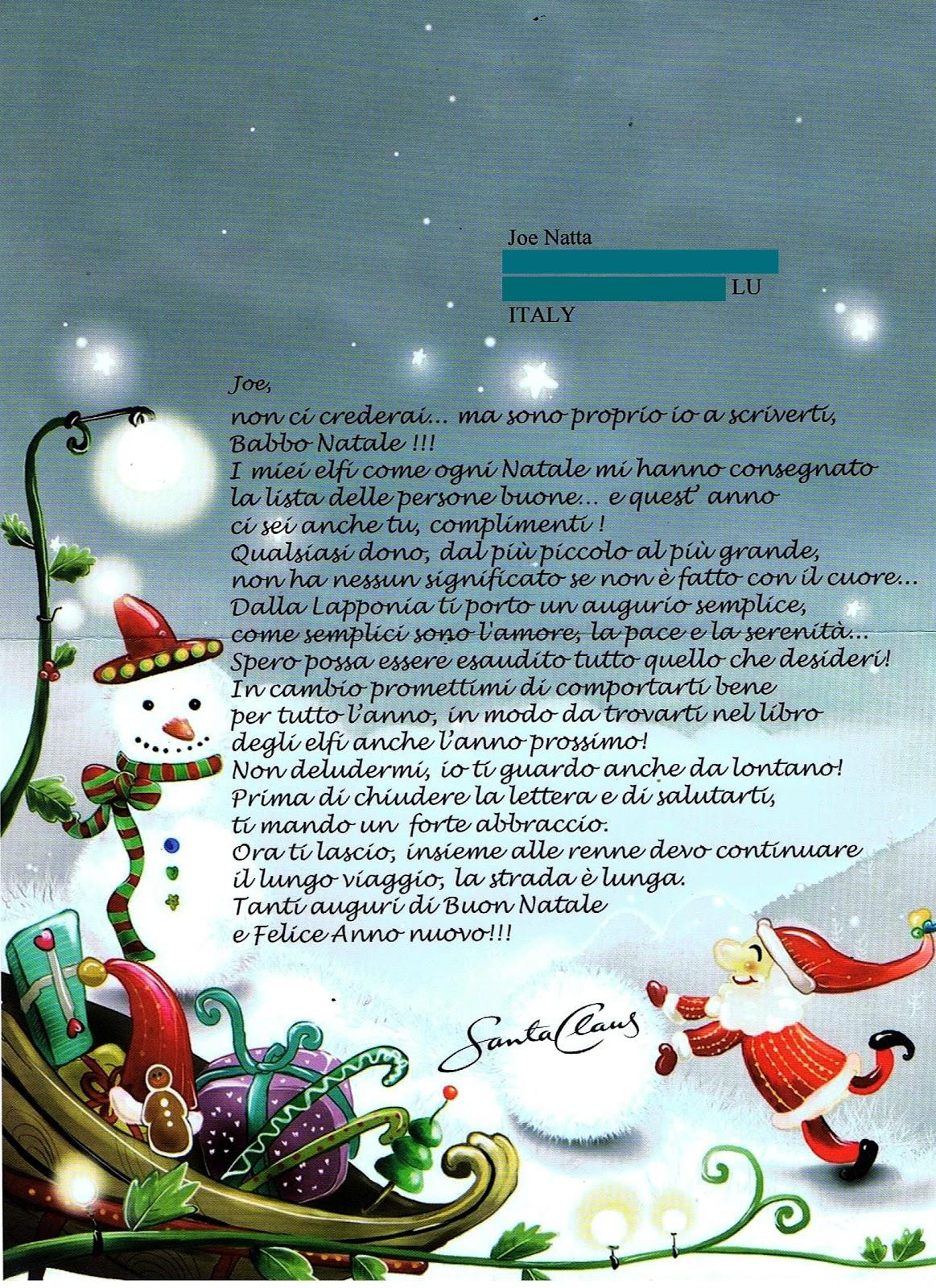 Lettera A Babbo Natale Divertente.Joe Natta Babbo Natale E L Ail Canzoni Pensieri E